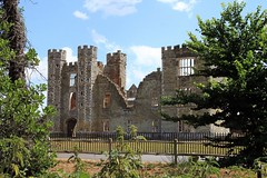 Cowdray House.     ....Explore (BIKEPILOT, Thx for + 4,000,000 views) Tags: cowdrayhouse ruins westsussex easebourne stone brick architecture towers fire 1793 tudor structure uk britain england building walls view