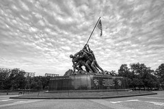 US Marine Corps War (Iwo Jima) Memorial (cmfgu) Tags: arlington arlingtoncounty virginia va usa us unitedstatesofamerica american northernvirginia usmarinecorpswarmemorial iwojimamemorial usmc arlingtonridgepark mountsuribachi battleofiwojima worldwarii wwii joerosenthal sculpture statue flag hdr highdynamicrange bw blackandwhite monochrome greyscale craigfildesfineartamericacom fineartamericacom craigfildespixelscom craigfildesphotography artist artistic photograph photo picture prints art wall canvasprint framedprint acrylicprint metalprint woodprint greetingcard throwpillow duvetcover totebag showercurtain phonecase mug yogamat fleeceblanket spiralnotebook sale sell buy purchase gift