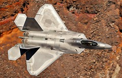The Jedi (Dafydd RJ Phillips) Tags: raptor f22 low level death valley jet fighter military aviation afb nellis