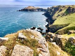 Rumps Point (heathernewman) Tags: hiking walking iphone sky blue green summer sunshine rocks vegetation uk england sea ocean coastpath southwestcoastpath landscape southwestengland rock padstow pentire cornwall
