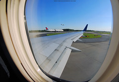 Atlanta Departure (Infinity & Beyond Photography) Tags: aviation photography airplane plane aircraft airliner photos wing window seat view 8mm samyang fisheye lens