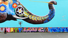 Massive mural in Berlin's Theodor Wolff Park (jbarry5) Tags: berlin jadoretong theelephantmural theodorwolffpark germany travelphotography travel streetart mural