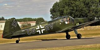 CG+EV BUCKER BESTMANN BU-181 TAXIING BREIGHTON