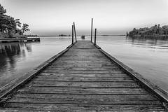 Docking in BW (dshoning) Tags: lake bw