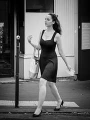 Walking down the Street... (kitchou1 Thanx 4 UR Visits Coms+Faves.) Tags: france summer paris street people city bw europe exterior world nb