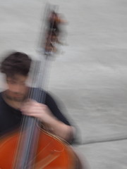 "Two Thirds of a Cellist (Say ""Wasabi"") Tags: icm blurred cello tate olympus intentionalcameramovement blur olympus75300"