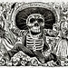 Calaveras Oaxaquena by Mexican political printmaker and engraver, Jose Guadalupe Posada (1852-1913). Original from Library of Congress. Digitally enhanced by rawpixel.