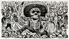 Calaveras Oaxaquena by Mexican political printmaker and engraver, Jose Guadalupe Posada (1852-1913). Original from Library of Congress. Digitally enhanced by rawpixel. (Free Public Domain Illustrations by rawpixel) Tags: antique art calavera calaveras calaverasoaxaquena caricature cartoon cultural dayofthedead dead death decor decoration diademuertos drawing etching fabric ghost guadalupe hell horror human illustrated illustration jose joseguadalupe joseguadalupeposada knife machete mexican modernismo muertos oaxaquena old political posada scary sketch skull spirit traditional vintage