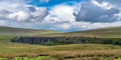 Moors splendour (Mark Gowing) Tags: 70813 colasrail ribblehead ribbleheadviaduct viaduct train locomotive logtrain class70