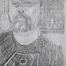 Self-portrait in pencil, age 50