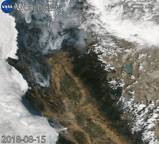 Animation of Northern California Fires over Time