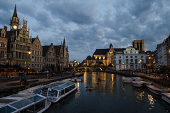 Instant ease (Federico Casares) Tags: water oldcity city boat eastflanders ghent belgium