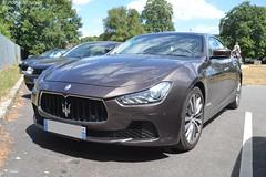 Maserati Ghilbi Diesel (Monde-Auto Passion Photos) Tags: voiture vehicule auto automobile maserati ghilbi diesel berline marron sportive supercar france barbizon