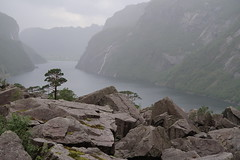Gloppedalsura (thor_thomsen) Tags: gloppedalsura landscape color rain clouds lake mountains valley boulders rocks