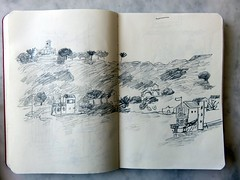 MAÓ. PUERTO. La Venecia, la Pequeña Venecia y the Golden Farm. 5 (joseluisgildela) Tags: puertodemaó menorca carnetsdeviaje dibujos