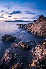 ALONG THE ROCKS (Cor Lems) Tags: glow sea beach landscape winter stheliers pink ocean newzealand sunset seascape landscapes longexposure auckland rocks