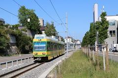 2018-08-02, Neuchâtel, Serrières Ruau (Fototak) Tags: tram strassenbahn transn neuchâtel littorail switzerland schlieren ligne215 554 502