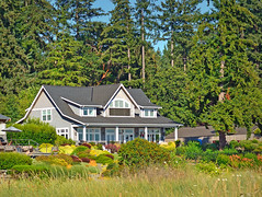 HOME NEAR LYTLE BEACH (EXPLORED) (Wolf Creek Carl) Tags: washington bainbrdigeisland lytlebeach house home trees outdoors green architecture