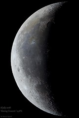 Waning Crescent of July 2018 (mariuszwysocki) Tags: space cosmos universe luna lunar crater mountain shadows color photoshop nature lightroom 2018 july poland bialystok astronomy astrophotography astro black night dark sky observation explore world solar system dslr canon telescope skywatcher eq32 700d hobby postprocessing waning crescent księżyc sierp astronomia photo stack