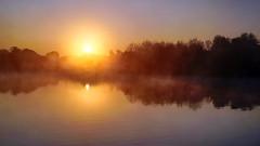 Simply Beautiful Sunrise (Mark BJ) Tags: daisynook countrypark failsworth crimelake manchester misty still uk oldham reflection ripples