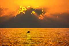 Sunset on the Black Sea / Закат на Черном море (kvl23) Tags: sunset dawn sun dramaticsky moodysky horizon sundown sea blacksea sochi russia reflection tranquilscene tranquility