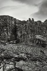 Þingvellir (2) (pni) Tags: monochrome grass landscape view stone rock sky cloud þingvellir is18 iceland ísland pekkanikrus skrubu pni