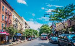 Along the Avenue (JMS2) Tags: streetscapes firetruck nyfd shops bronx littleitaly arthuravenue shopping outdoor nyc