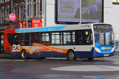 GX58 GMU, Commercial Road, Portsmouth, December 29th 2015 (Southsea_Matt) Tags: gx58gmu 27557 route23 stagecoach southdown alexanderdennis enviro300 adl e300 commercialroad portsmouth hampshire england unitedkingdom december 2015 winter canon 60d bus omnibus transport