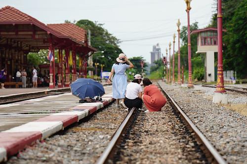 Hua Hin Selfies on the Tracks