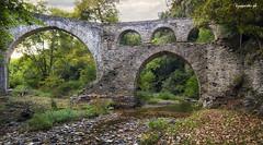Iveron aquaduct (kzappaster) Tags: stonebridge bridge aquaduct samsung samsungnx100 samsungnx nx100 nx ifn 16mm 16mmf24 mirrorless compactsystemcamera pancake panorama athos macedonia greece iveron iviron river water monastery hdr