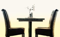 Let's talk (mrburton75) Tags: sonnenaufgang stimmung kunst art dekoration deko blume flower chair stuhl table tisch seebrücke schleswigholstein germany wolkenlos strand timmendorfer timmendorf ostsee
