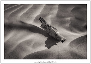 Arrowing into the sand