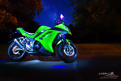 Mari Beth's Ride (1300 Photography) Tags: nikon d750 affinity 20mm nightphotography lightpainting motorsport motorcycle ninja