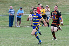 Unopposed (Steve Barowik) Tags: yorkshire westyorkshire nikond500 barowik leeds ls26 stevebarowik sbofls26 rugbyleague rl nationalleague 70200mmf28gvrii sport competition try conversion penalty sinbin referee linesman ball pitch sticks posts team watercarrier dx cropframe kick pass offload dropkick forwardpass centre wing prop forward back fullback unlimitedphotos wonderfulworld quantumentanglement oultonraiders shawcrosssharks nationalconferencedivisionone