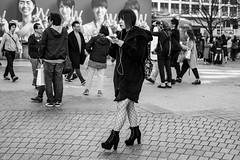 Going Fishing (burnt dirt) Tags: asian japan tokyo shibuya station streetphotography documentary candid portrait fujifilm xt1 bw blackandwhite laugh smile cute sexy latina young girl woman japanese korean thai dress skirt shorts jeans jacket leather pants boots heels stilettos bra stockings tights yogapants leggings couple lovers friends longhair shorthair ponytail cellphone glasses sunglasses blonde brunette redhead tattoo model train bus busstation metro city town downtown sidewalk pretty beautiful selfie fashion pregnant sweater people person costume cosplay boobs