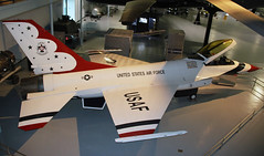 Daddy took her T'bird away! (crusader752) Tags: usaf usairforce thunderbirds generaldynamics f16a viper fightingfalcon 8106763 display warnerrobins airforcemuseum georgia