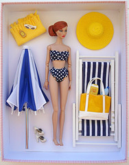 A-Z Challenge: N - Not Sold in Stores (Deejay Bafaroy) Tags: azchallengennotsoldinstores azchallenge nnotsoldinstores n notsoldinstores challenge fashion royalty fr integrity toys it doll puppe barbie poppyparker moodchangers redhead bikini hat hut sunglasses sonnenbrille shoes schuhe beachbag badetasche beachtowel strandtuch sunmilk sonnenmilch bottleofmineralwater flaschemineralwasser deckchair beachchair liegestuhl sunshade parasol sunumbrella sonnenschirm 16 scale playscale miniature miniatur blue blau yellow gelb white weiss stripes striped streifen gestreift polkadotted gepunktet polkadot getupft tupfen
