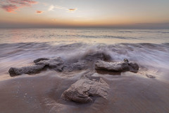 Coquina Rocks (tshabazzphotography) Tags: sunrise sunset sea ocean sky clouds sand beach florida palm coast longexposure flickr picoftheday canon landscape seascape coquina rocks splash wave crashing water sun mornings dusk movement waves peaceful serene beautiful