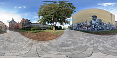 """I AM GONNA SHOW YOU, HOW GREAT I AM."" (360 x 180) (diwan) Tags: germany deutschland sachsenanhalt saxonyanhalt magdeburg city stadt place buckau klosterbergestrase housewall grafftiti mural muhammadali cassiusmarcellusclay outdoor himmel sky fotogruppe fotogruppemagdeburg roundabout equirectangular spivpano 360° circularpatternrectified panoramix panorama stitch ptgui google nikcollection plugins viveza2 fisheye canonef15mmf28fisheye canoneos5dmarkiv canon eos 2018 geotagged geo:lon=11635038 geo:lat=52108910"