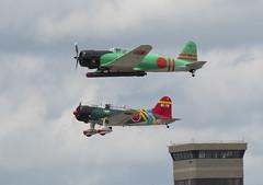 Kamikaze Invasion (Fredmiller13) Tags: vectran dayton air show 2018 heritage p51 kamikaze veteran force blueangels usnavy zero