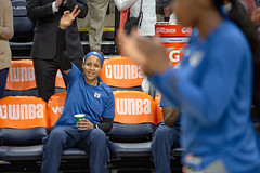 Maya Moore (23) at the beginning of the Lynx vs Sky game acknowledges the crowd for being named Player of the Week for games played June 25 to July 1 (Lorie Shaull) Tags: minnesotalynx wnba womensbasketball basketball basketballplayer targetcenter mayamoore lynx