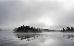 'A Colour Photograph' (Canadapt) Tags: lake reflection island shoreline waves mist fog colour keefer canadapt
