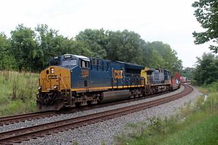Westbound intermodal, Shenandoah Junction, WV