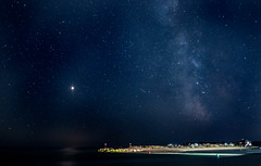 P1010036 (Wembley1975) Tags: hengitsbury head seascape stars milky way night mars beach huts mudeford dorset avon