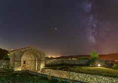 Sotto la Via delle Stelle (Christian Ferrari) Tags: night nightscape stars light milkway landscape new me astrophotografy green orange canon travel tuscany sky summer mars