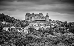 Château de Hautefort (Missy Jussy) Tags: chateaudehautefort southwestfrance france trip travel tourism building chateau house trees hillside sky clouds mono monochrome blackwhite bw blackandwhite 70200mm ef70200mmf4lusm ef70200mm canon70200mm 5d canon5dmarkll canon5d canoneos5dmarkii canon outdoor outside