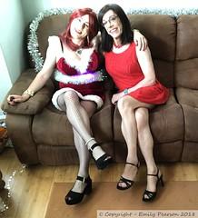 June 2018 - Junemas Day (Girly Emily) Tags: crossdresser cd tv tvchix tranny trans transvestite transsexual tgirl tgirls convincing feminine girly cute pretty sexy transgender boytogirl mtf maletofemale xdresser gurl glasses dress tights hose hosiery indoor stilettos highheels junemas santa christmas