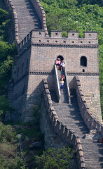 Great Wall Tower (peterkelly) Tags: digital canon 6d asia gadventures transmongolianadventure mutianyusection china steps stairs greatwall tower visitors tourists brick