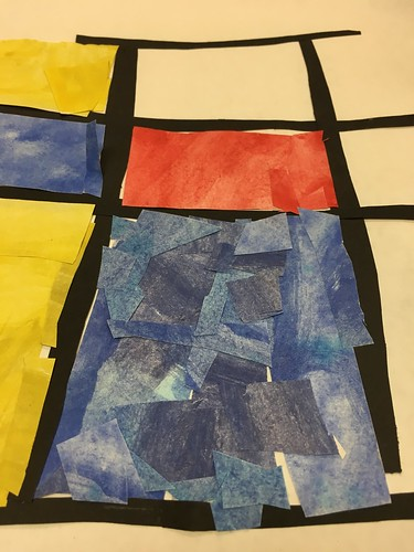 """Every year I get new favorites with this #kindergarten #pietmondrian  inspired painted paper gridded #collage ❤️❤️  They have such an amazing lyricism at this age that I admire so much. Want em all! • <a style=""""font-size:0.8em;"""" href=""""http://www.flickr.com/photos/57802765@N07/30026290278/"""" target=""""_blank"""">View on Flickr</a>"""