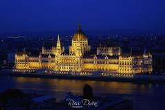 Budapest Parliament (Russ Dixon Photography) Tags: russdixon russdixonphotography budapest river danube parliament nightphotography night bluehour longexposure fujixe2